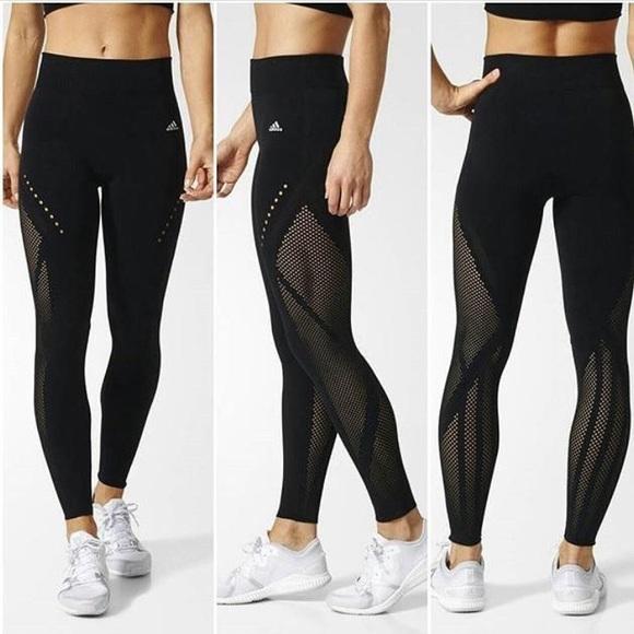 músculo Puro Rebelión  adidas Pants & Jumpsuits | Orange Adidas Warp Knit Tights | Poshmark